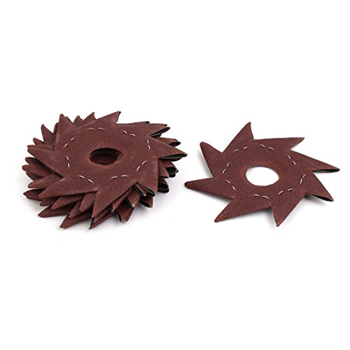 For Sale! Aexit 80 Grit Abrasives 5 Pinwheel Shaped Octagonal Abrasive Sandpaper Sanding Buffing To...