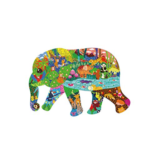 Puzzle da 200 pezzi per bambini Adulti, puzzle con animali, puzzle da 200 pezzi con animali Puzzle per bambini | Elefante | Forma unica, puzzle per decorazioni per la casa Miglior regalo