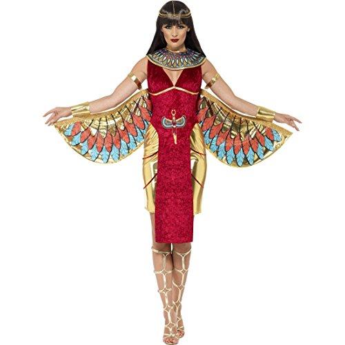 Amakando Costume da divinità egizia - M (IT 42/44) | Costume da Isis da Donna | Costume da dea egizia | Travestimento egiziana