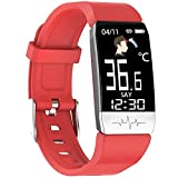 Neutral Bluetooth Smart <span class='highlight'>Watch</span>,<span class='highlight'>Fitness</span> Activity Tracker Touch Screen IP67 Blood Pressure Body Temperature <span class='highlight'>Heart</span> USB Step Sleep Monitor Calorie Counter <span class='highlight'>Watch</span> for Men Women Android IOS Red