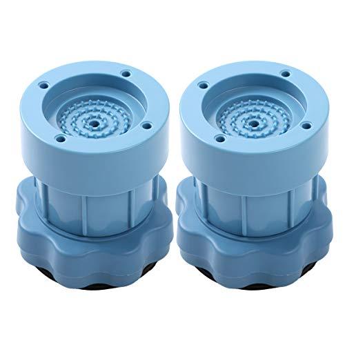 dPois 2 Stück Anti-Vibration Waschmaschine Kühlschrank Gummi Fußpolster Schwingungsdämpfer Einstellbar Möbelerhöhung Universal Blau One Size