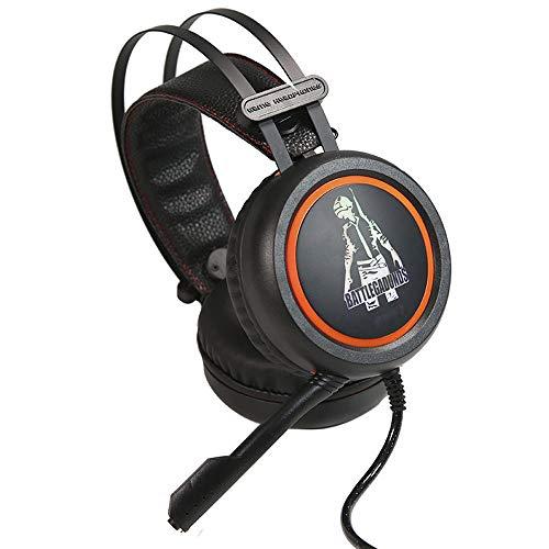 DNACC USB 7.1-Kanal 3D Surround Sound Gaming Kopfhörer Omnidirektionaler Tonabnehmer Rauschunterdrückung Mikrofon HeadphoneAdaptives Stirnband Leichtgewicht Design Headset mit Volume Contro