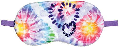 iscream Fun and Colorful Satin-Lined Batik Heart Tie Dye Silky Fleece Sleep Mask for Girls