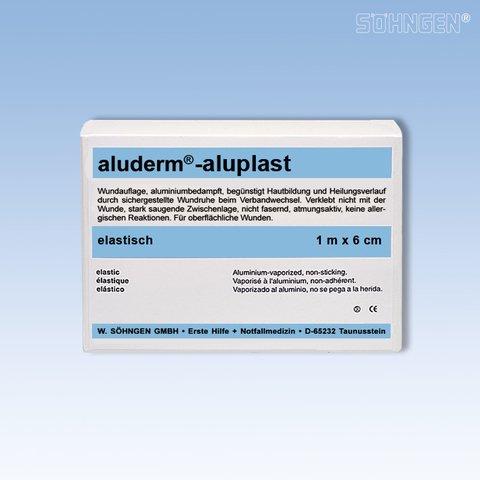 aluderm® Pflaster aluplast, elastisch, 6 x 10 cm, weiß (10 Stück), Sie erhalten 1 Packung á 10 Stück