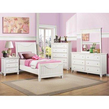Hot Sale Homelegance Alyssa 5 Piece Kids' Panel Bedroom Set In White