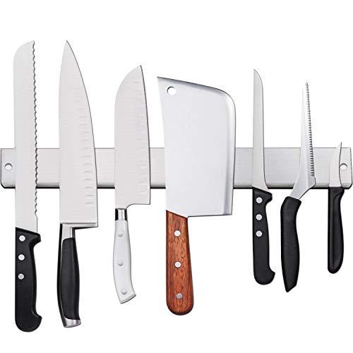 [Verbesserte 50cm] Magnetleiste Messer, Extra Starker Magnet Messerhalter aus Edelstahl, Magnetleiste Wandmontage, Selbstklebend Einfache Montage, Messerhalter Magnetisch Für Organisierte Küche