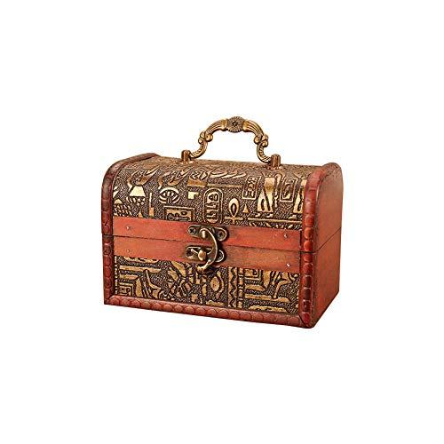Meltset Schmuckkästchen Aufbewahrungsbox aus Holz für Ringe, Halsketten, Ohrringe, Armband, Piraten, Schmuck, Accessoires