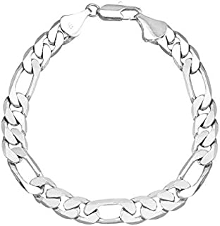 Silver Plated Classic Cubic Chain Style Bracelet for Men (A93MLP32S)