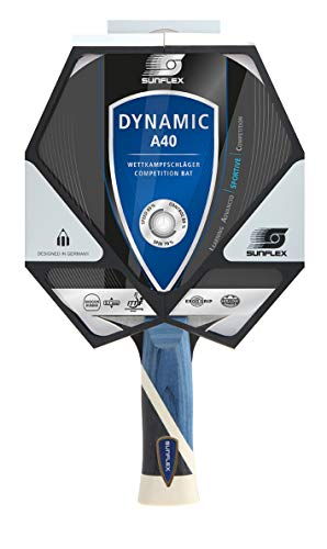 Sunflex Tischtennisschläger Dynamic A40 | ITTF Tischtennis Wettkampfschläger 2,1mm Schwamm