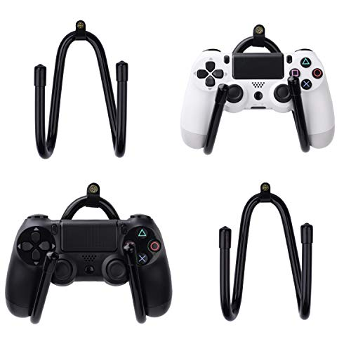 4 Pcs Universal Game Controllers Wall Mount Rack Organizer Holder Hanger Hook Stand for Xbox One PS4 Switch Pro Game Controllers - Not Include Game Controllers