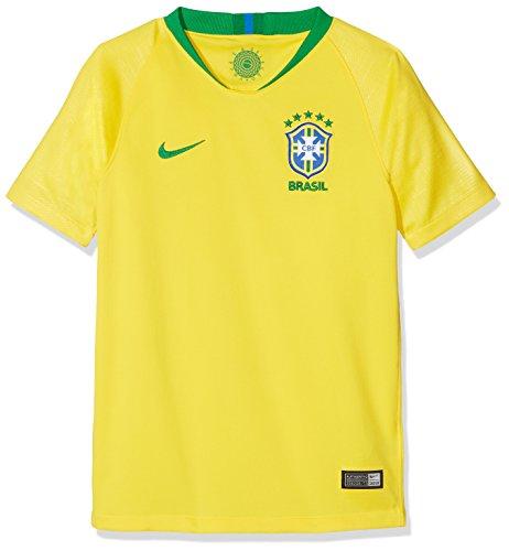 Nike 2018-2019 Brazil Home Football Soccer T-Shirt Jersey (Kids) 10 Nike Replica Home Jersey