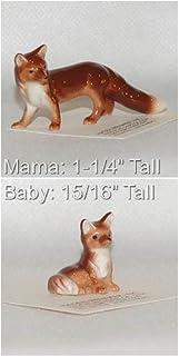 Hagen-Renaker 2 Piece Ceramic Mama and Baby Fox Set, 2020 and 2021