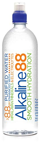 Alkaline88 Purified Ionized Water with Himalayan Minerals & Electrolytes for smooth taste. Perfectly balanced for your body with 8.8ph. (24) 700mL Sports Cap bottles per case. 100% Recyclable.