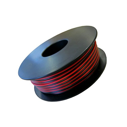 LiYZ, Flachleitung, 2x0,14qmm, 25m Spule, Adernfarben rot/schwarz