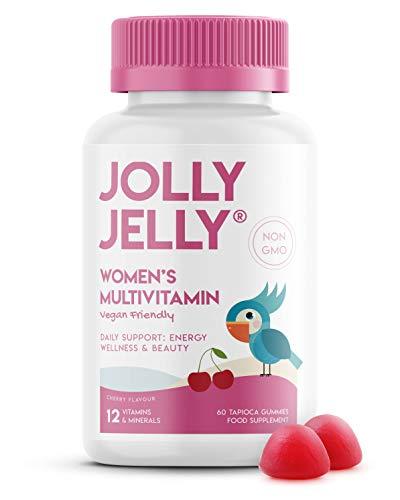 Women s Multivitamins & Minerals Gummies - 12 Essential Vitamins & Minerals - Organic Tapioca Based. Cherry Flavour - 60 Gummies. 1 Pack