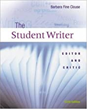 The Student Writer: Editor and Critic