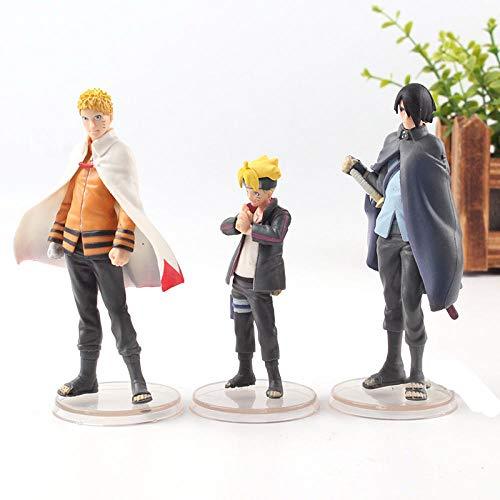 MNZBZ Anime Boruto Naruto NÄCHSTE GENERATIONEN Uchiha Sasuke Boruto Uzumaki Naruto Figur Aktion PVC Kollektion Modell Jungen Spielzeug 3St. / Set