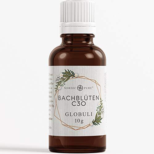 Nordic Pure Bachblüten Notfall Globuli zur Beruhigung | Dr. Bach - Flugangst, Nervosität, Unruhe und Angstzustände für Erwachsene und Kinder | Vegan