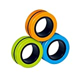 Cartshopper Anti-Stress Finger FinGears Magnetic Rings for Autism Anxiety Relief Focus Toys, Magnetic
