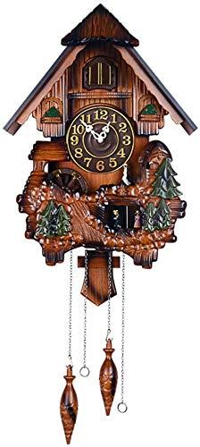 xcxc Reloj de Cuco Reloj de Chalet Reloj de Pared de Madera