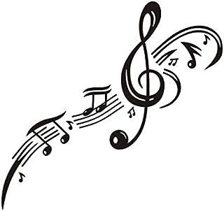 Clé de sol clé note musicale stickers muraux pour les chambres d'enfants Home Decor vinyle amovible Stickers muraux bricol...
