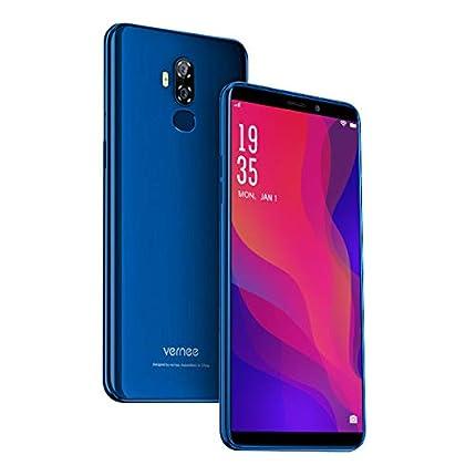 "Vernee X2 Móvil Libre Barato 4G, 6350mAh Batería, Android 9.0, 6""HD, 3GB RAM+32GB ROM, Dual SIM, 4 Núcleos, Face ID+Touch ID, Cámara Trasera 13MP+5MP Frontal 5MP, Procesador MT6739, GPS GLONASS - Azul"