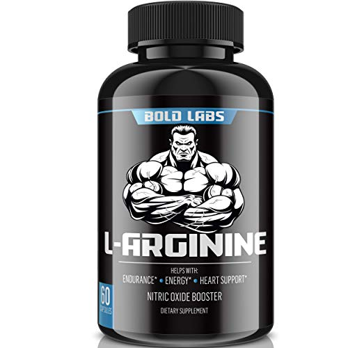 Bold Labs USA Extra Strength L Arginine - 2680mg Nitric Oxide Supplement for Muscle Growth, Vascularity & Energy - L-Citrulline & Essential Amino Acids to Support Physical Endurance, 60 Capsules