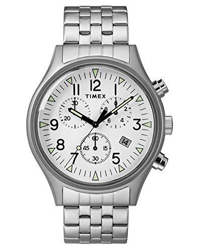 Timex Reloj Cronógrafo para Hombre de Cuarzo con Correa en Acero Inoxidable TW2R68900