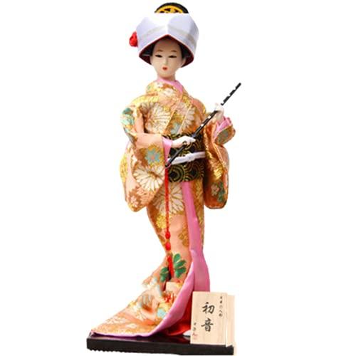 二代目舞妓 舞踊・舞妓 日本人形 初音 12インチ(30cm) 日本のお土産 外国人へのプレセント ピンク【ABMINEYAMA】 (y17初音)