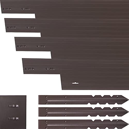 VEVOR Aluminum Landscape Edging, 36 PCS Metal Garden Edging, 118.1 ft Total Length Lawn Edging...