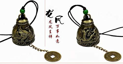 Chinesische Drachen Feng-Shui-Glocke Segen Glück Glück Hängen Windspiel-Longfeng