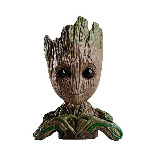 Flowerpot Treeman,Baby Groot Planter,Cute Green Plants Flower Pot,Pen Holder,Pencil Holder,Office Organizer,Guardians of The Galaxy Groot Pen Pot