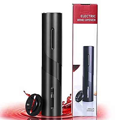 Amazon - 40% Off on Electric Wine Opener Set with Pourer, Vacuum Stopper and Foil Cutter
