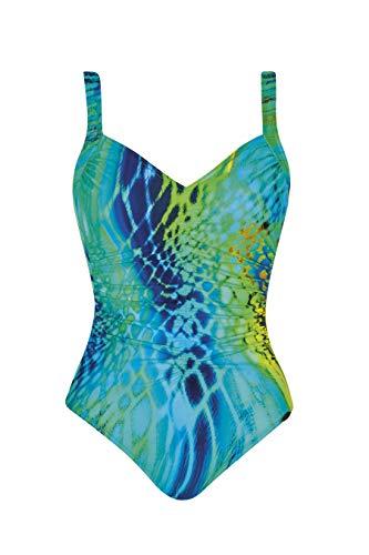 Sunflair Damen Badeanzug Turquoise Lightness (Türkis, 40 (Herstellergröße 40B))