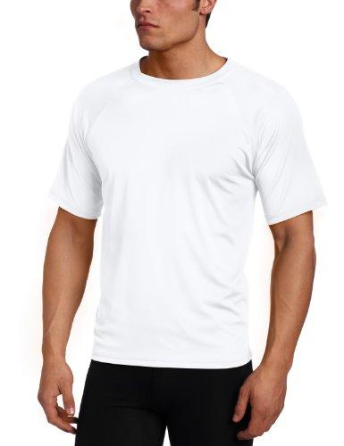 Kanu Surf Men's Short Sleeve UPF 50+ Swim Shirt (Regular & Extended Sizes), White, 4X