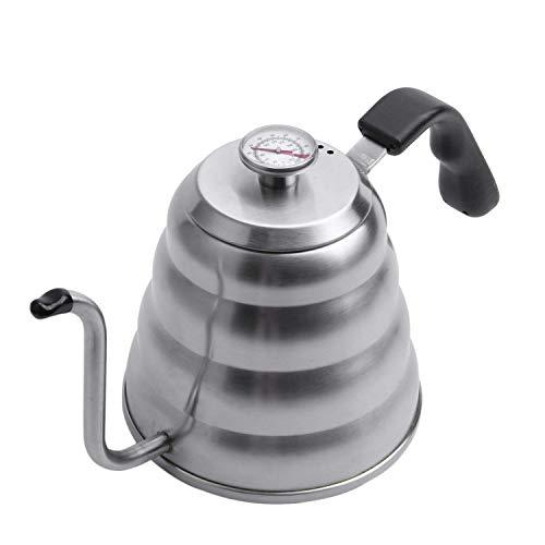 WECDS-E Hervidor de café para Verter Temperatura precisa 40floz - Hervidor de té de Cuello de Cisne - Tetera de Acero Inoxidable de 5 Tazas para Estufa - Teteras de Cocina