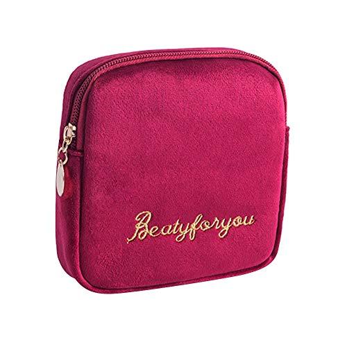 Savlot Sanitary Napkin Opbergtas Lippenstift Opbergtas Met Rits Draagbare Mini Cosmetische Tas Sieraden Organizer Voor Outdoor Reizen