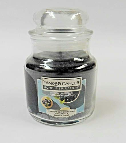 Yankee Candle Blueberry Cheesecake Small Jar Blue 3.7Oz 104G