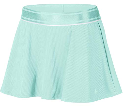 Nike Womens Court Dry Skirt Flouncy Teal Tint/White/Teal Tint MD