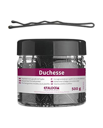 Efalock Professional Duchesse Haarklemme, 5 cm, 500 g, schwarz