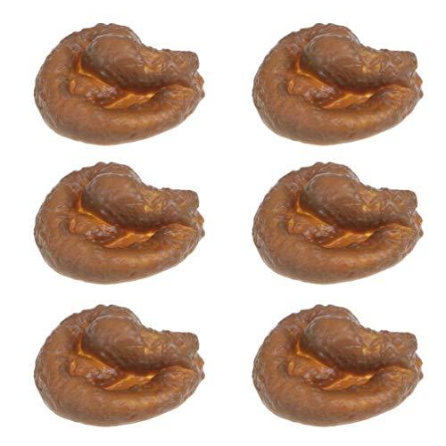 WWmily 6 Stück realistische Prank lustige KOT-Spielzeuge Fake Poop Witz Trick Gag Geschenk für Halloween April Narr's Day Party Mischief Neuheit Spielzeug