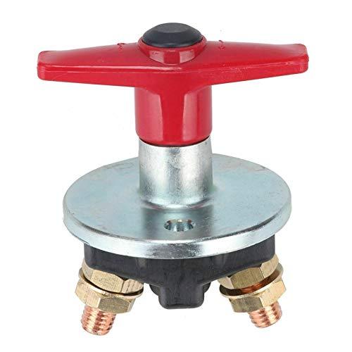 LICHONGUI 1 UNID 1500 AMP Llavero Fijo Aislador de la batería Cortar el Interruptor de Matanza 12V / 24V Interruptor eléctrico de Servicio Pesado (Color : Red)