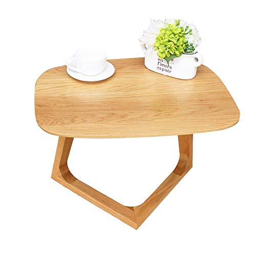 JCNFA BIJZETTAFEL Eiken Bijzettafel, Massief Houten Meubilair, Living Room Storage Kleine End Table, Ontwerp Assembly (Color : Wood, Size : 23.62 * 18.50 * 16.92in)