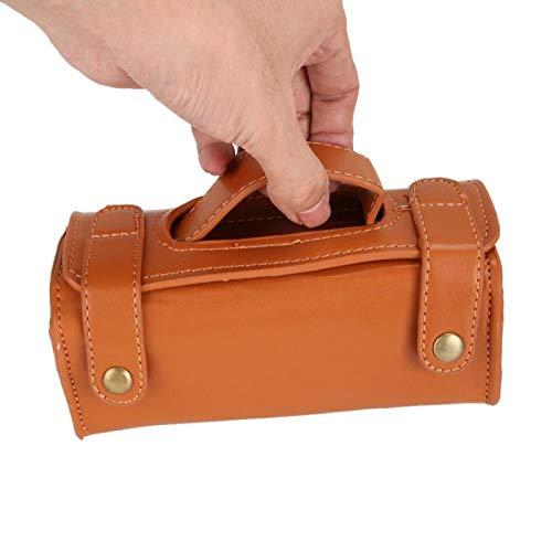 Bolsa de afeitar duradera portátil Bolsa de cosméticos para brocha de afeitar para hombres para herramientas de afeitar para uso doméstico(brown)