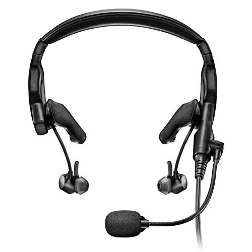 Bose Proflight Series 2 Aviation Headset with Bluetooth Connectivity, Dual Plug Cable, Black