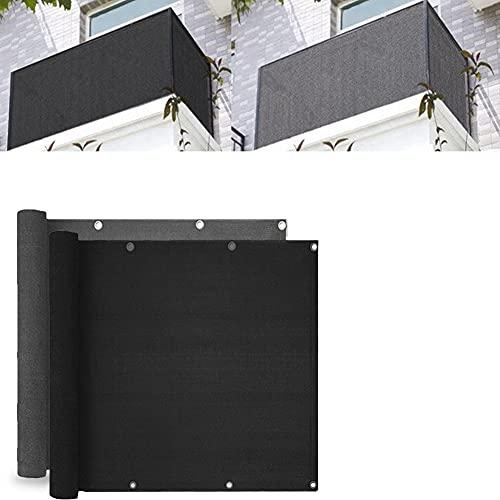 WMLBK Balkong insynsskydd, 5 m trädgårdsstaket solskydd balkong UV-skydd skuggskärm vindskydd staket skydd balkongskydd (svart)