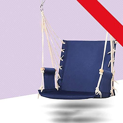 SONGYU Chaise de balançoire hamac Suspendue, siège de balançoire de Jardin extérieur à Corde Suspendue à Double Corde de Loisirs Confortable et sûr-a