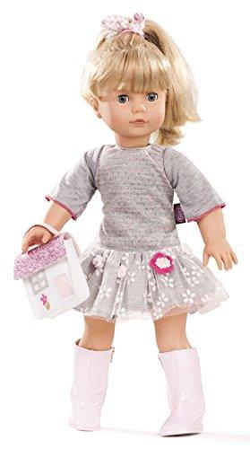 Götz 1690391 Precious Day Girls Jessica Puppe Netlace & Flowers - 46 cm große Stehpuppe, Blonde Lange Haare, Blaue Schlafaugen - 5-teiliges Set