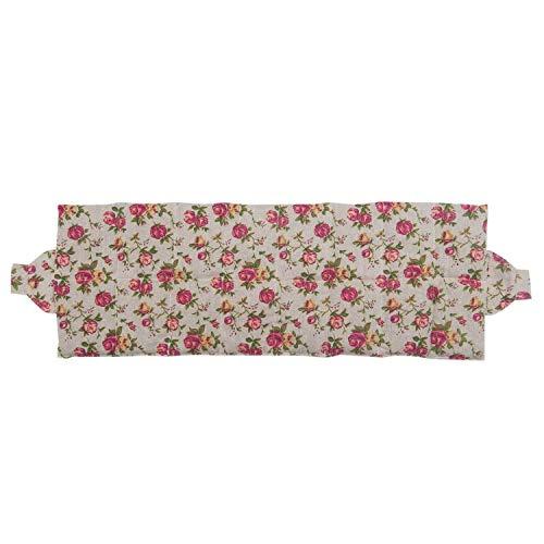 Almohada de trigo para atar, para la relajación y el bienestar, para calentar en el horno o en el microondas, que llena aprox. 900gr de granos de trigo, 65 x 23cm (Retro)