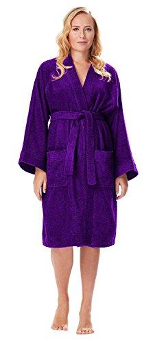 Arus Albornoz Kimono para Mujer, Ciruela, L/XL